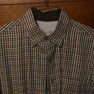 Tasso Elba plaid shirt
